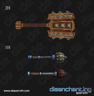 Armes de Mists of Pandaria