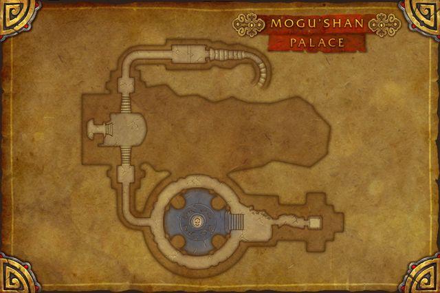 Carte du Palais de Mogu'shan