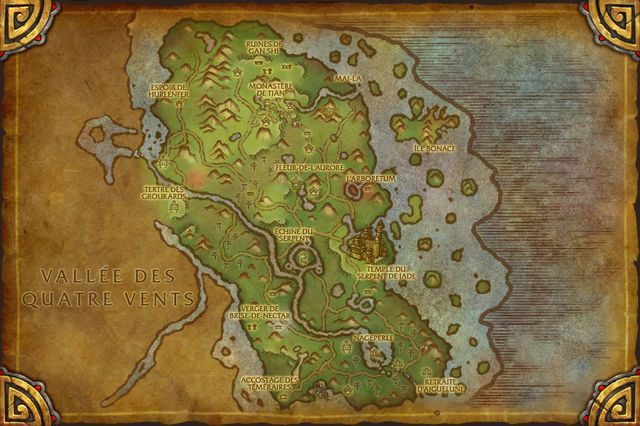 Mists of Pandaria : Carte de Pandarie