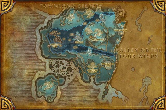 Carte des Terres de l'Angoisse