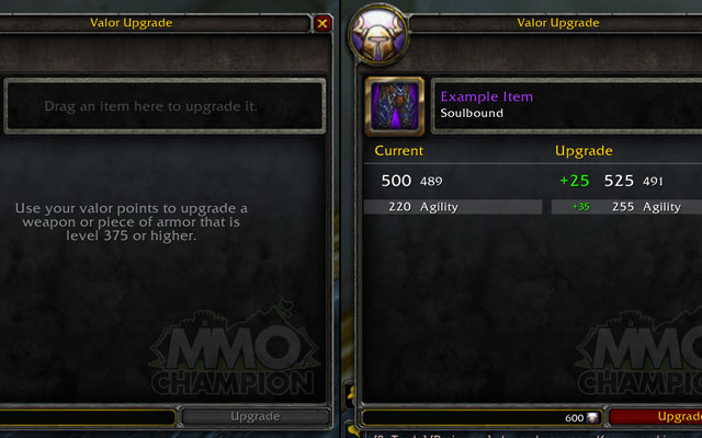 Changements de la Vaillance à Mists of Pandaria