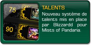 Mists of Pandaria : Nouveaux talents