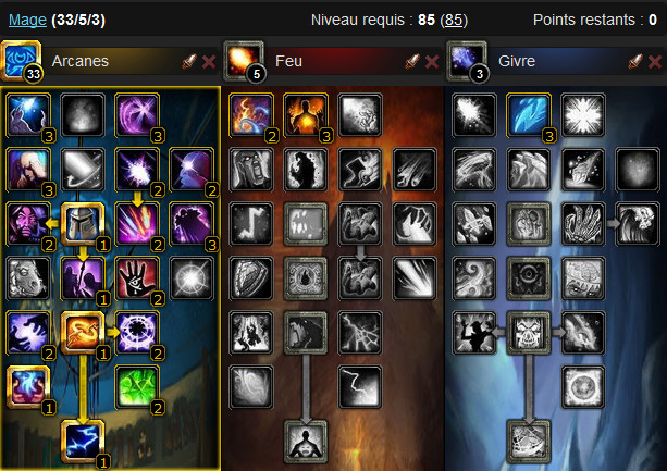 Wow template mage pvp