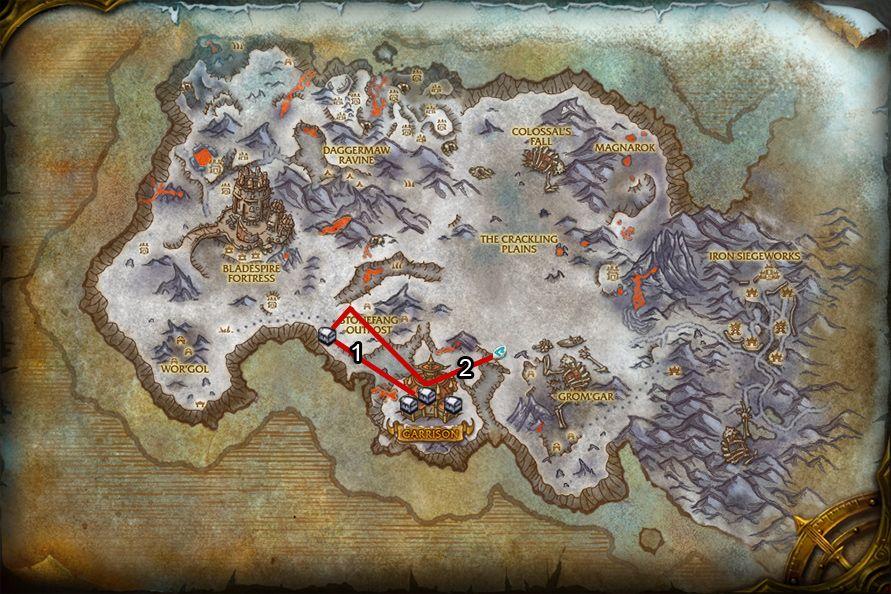 WoD : Carte de Givrefeu