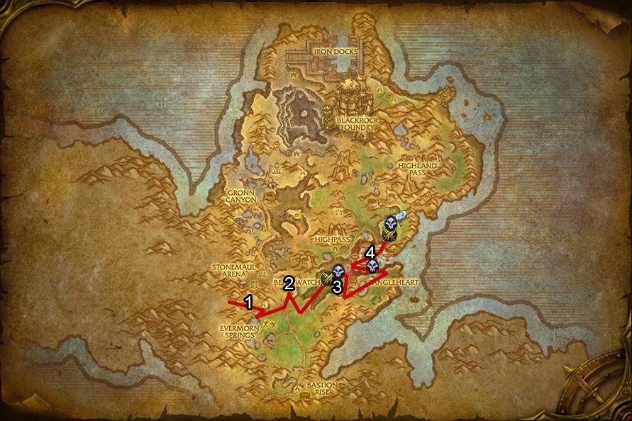 WoD : Carte de Gorgrond
