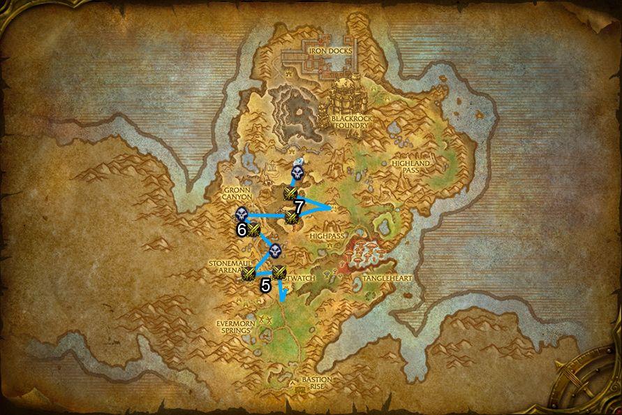 WoD : Carte de Gorgrond 2