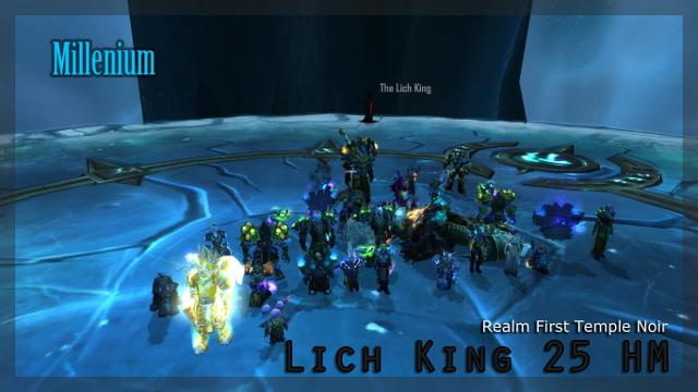 Le Roi Liche 25 HM tué pour la première fois sur temple noir en guise d'adieu