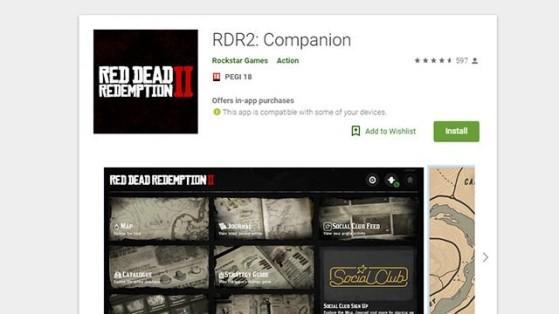Red Dead Redemption 2 : Companion app Android et iOS, téléchargement