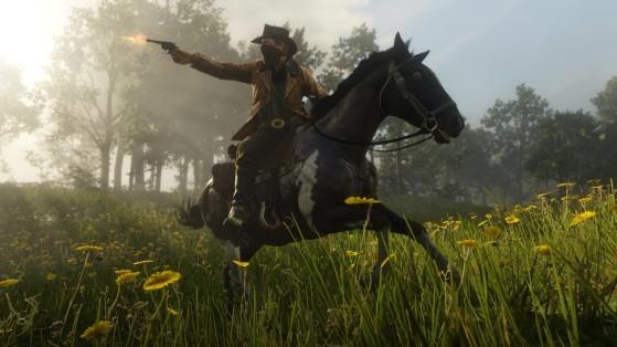 Le 15 headshots à dos de cheval durant une course poursuite, un exploit que vous aurez à répéter. - Red Dead Redemption 2