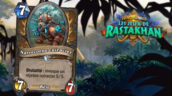 Hearthstone Les Jeux de Rastakhan: Navrecorne Cuiracier (Ironhide Direhorn)