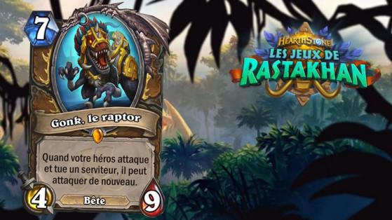 Hearthstone Jeux de Rastakhan : Gonk, le Raptor (Gonk, the Raptor)