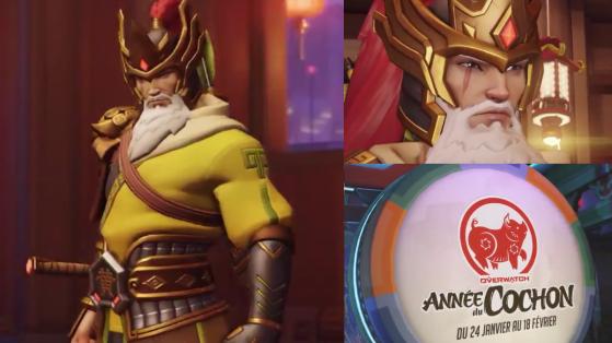 Overwatch, nouvel an lunaire, cochon, skin légendaire Hanzo