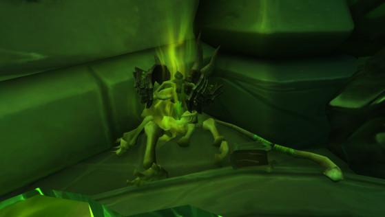 Le cadavre sans tête de Gul'dan est visible dans le raid de la Tombe de Sargeras (World of Warcraft) - World of Warcraft