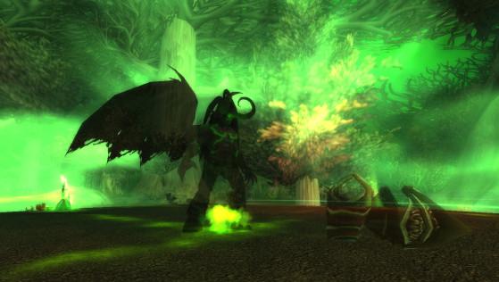 Illidan avant et après sa transformation (quête Le crâne de Gul'dan) - World of Warcraft