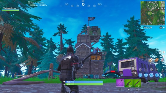 À l'ouest de Pleasant Park - Fortnite : Battle royale