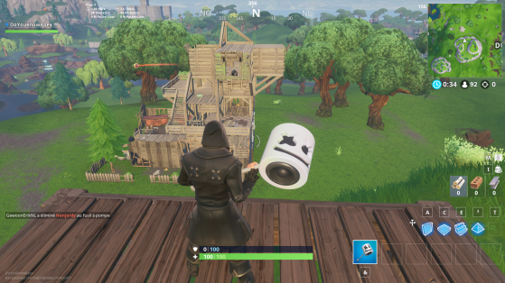 Entre Tilted Towers et Dusty Divot - Fortnite : Battle royale
