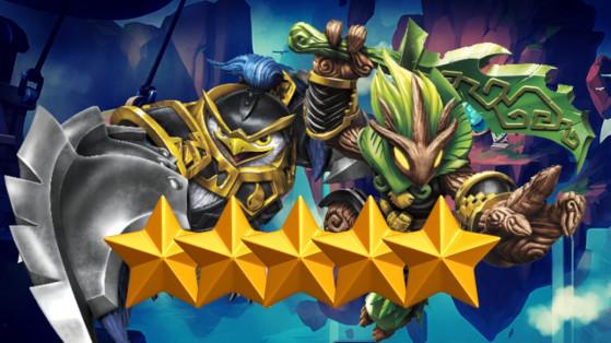 Skylanders Ring of Heroes : Tier list Nat 5, meilleurs monstres