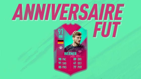 FIFA 19 : DCE Timo Werner Anniversaire, FUT Birthday
