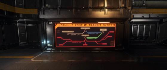 La nouvelle carte du métro de Lorville - Star Citizen