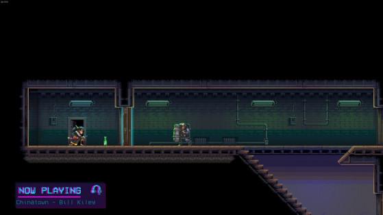 Au début de chaque niveau, votre personnage lancera son petit baladeur cassette, parce que c'est important de se mettre dans l'ambiance avant de tuer des gens. - Millenium