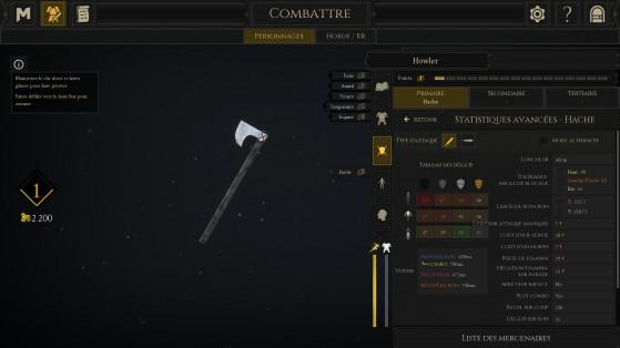 Pour chaque arme, il y a un joli récapitulatif des valeurs de dégâts localisés, du temps d'animation etc. - Millenium