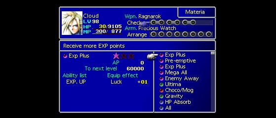 Les slots liés signifient qu'une combinaison est possible. - Final Fantasy 7 Remake