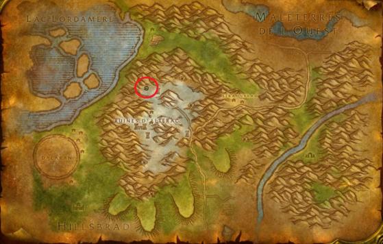 Localisation de Bro'kin aux Montagnes d'Alterac - WoW : Classic