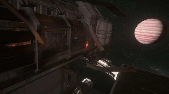 La seule entrée encore viable de la station - Star Citizen