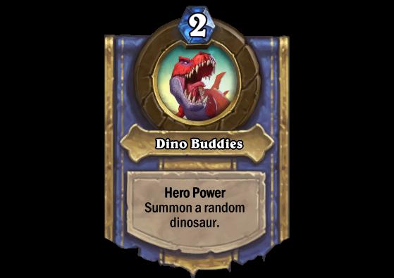 Pouvoir héroïque. Invoque un dinosaure aléatoire. - Hearthstone