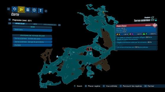Emplacement de la quête - Borderlands 3