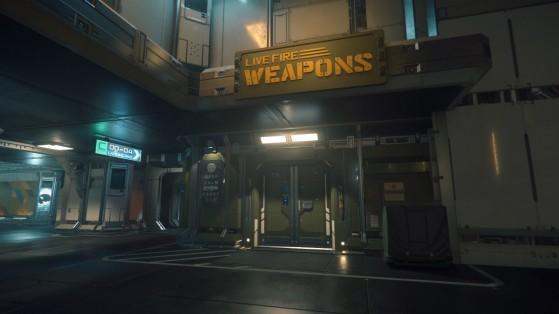 Une boutique de vente d'armes - Star Citizen