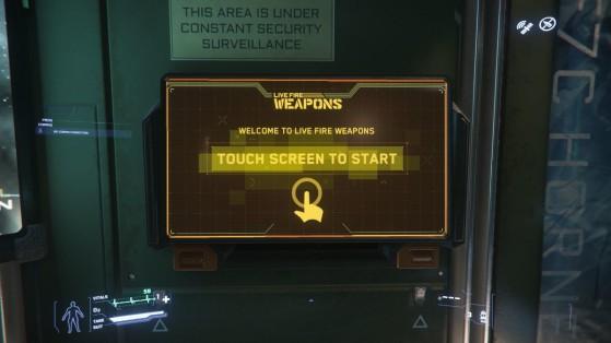 Une console de vente - Star Citizen