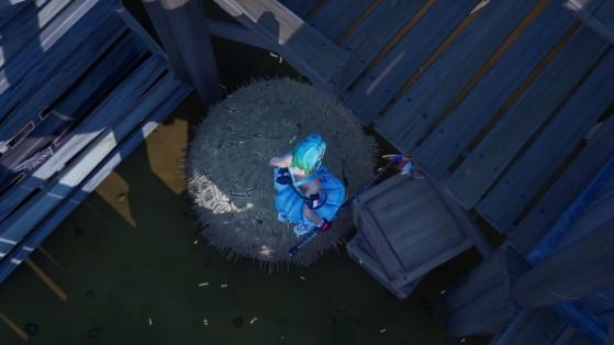 Fortnite : Eviter de subir des dégâts de chute en atterrissant dans une cachette, défi