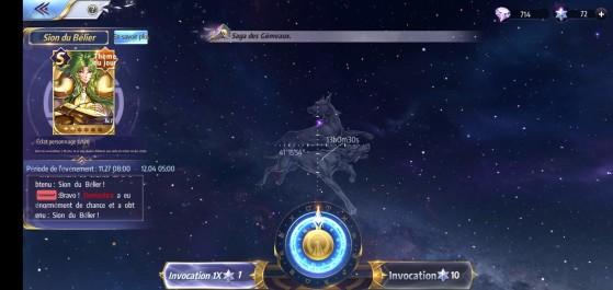 Constellation des chiens de chasses - Saint Seiya Awakening