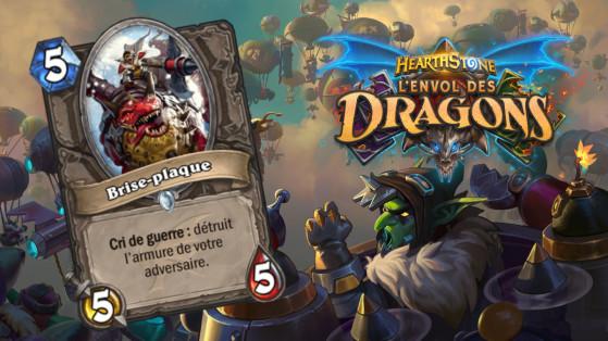 Hearthstone Envol des Dragons : nouveau serviteur commun Neutre Brise-plaque