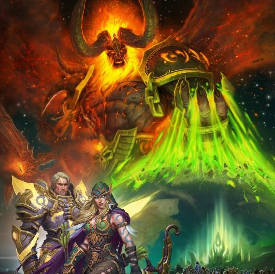 Détail de l'artwork du patch 7.3, Les ombres d'Argus - World of Warcraft
