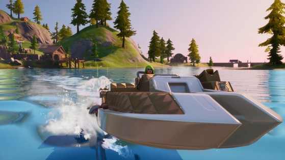 Fortnite : Réussir un défi chronométré en canot motorisé, mission Eveil du chaos