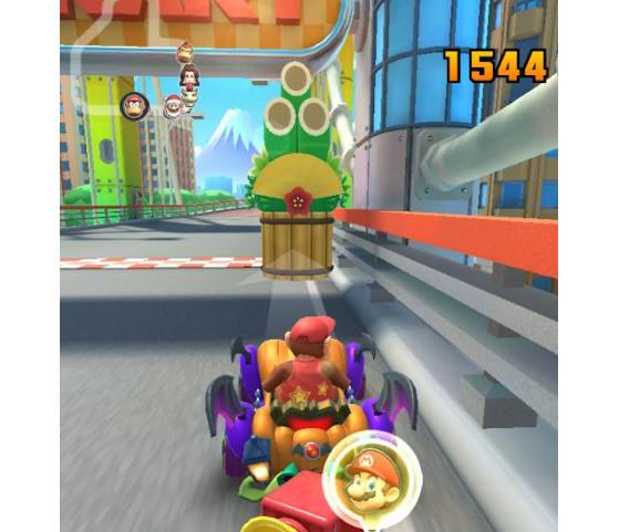 Mario Kart Tour Toucher Un Kadomatsu Avec Un Objet Cinq