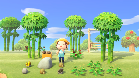 Animal Crossing New Horizons : où trouver des pépites de fer, d'or, argile et des pierres