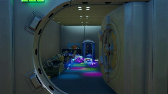 Fortnite : S'échapper d'une chambre forte en utilisant un passage secret, défi aventure de Skye