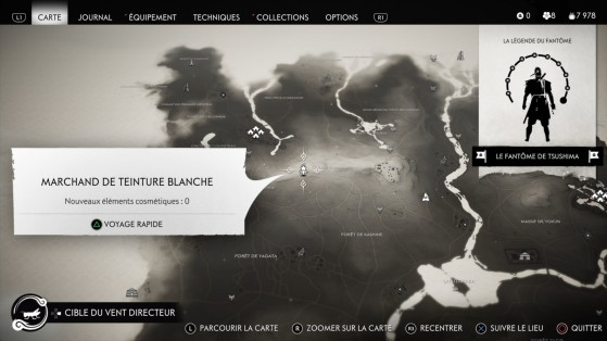 Teintures blanches - Ghost of Tsushima