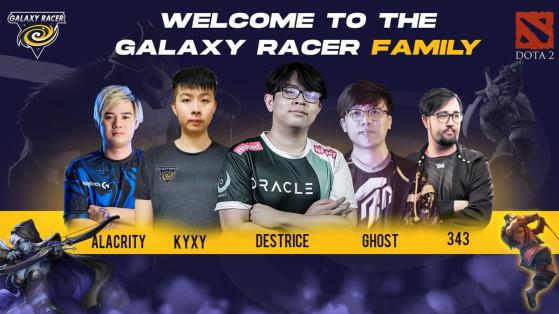 Galaxy Racer complète son roster DotA 2 avec  nouveaux joueurs