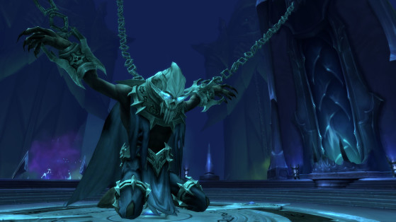Le Runomancien, prisonnier du Geôlier dans Tourment, la tour des Damnés - World of Warcraft
