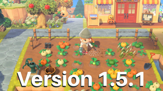 Animal Crossing New Horizons : Mise à jour 1.5.1, patch note français
