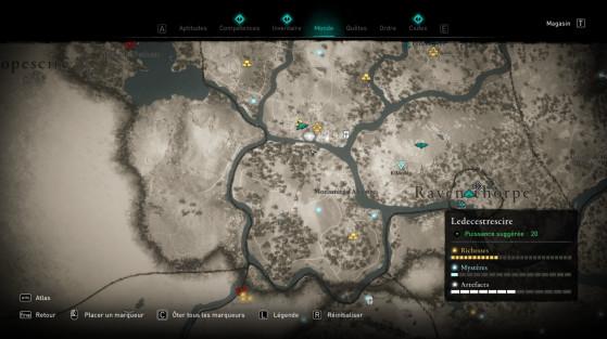 Curseur du personnage à suivre - Assassin's Creed Valhalla