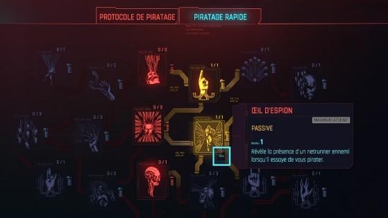 L'arbre de talent Intelligence - Cyberpunk 2077