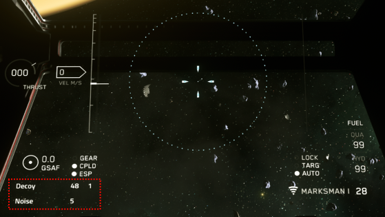 Le widget des contre-mesures - Star Citizen