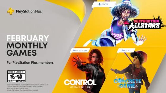 La gamme PS+ de février vient d'être annoncé avec Control en tête d'affiche