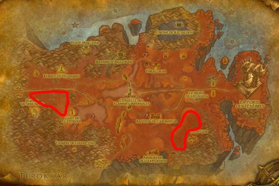 Localisations principales de Sangliers infernaux - Burning Crusade : Classic