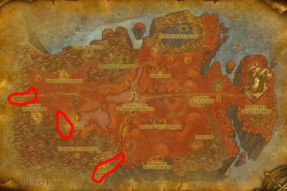 Localisations principales de Ravageurs - Burning Crusade : Classic